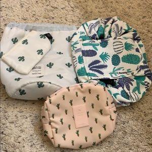 Cactus cosmetic/travel bags.